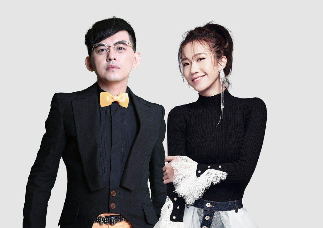 黃子佼(左)和Lulu連續兩年主持北市府跨年晚會。圖/臺北市觀光傳播局、必應創造...