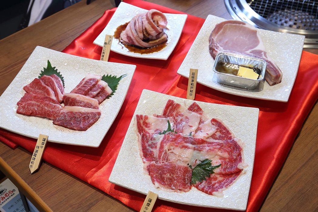 「職人手藝和牛饗宴套餐」中,無限量供應日本A4和牛。記者陳睿中/攝影