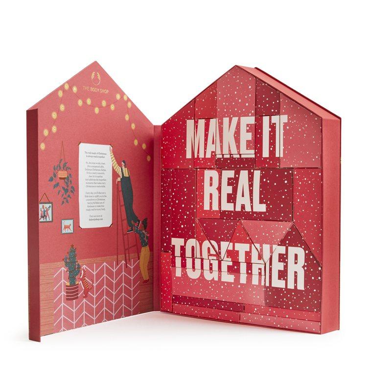 THE BODY SHOP紅色耶誕繽紛小屋倒數月曆/5,800元。圖/THE B...