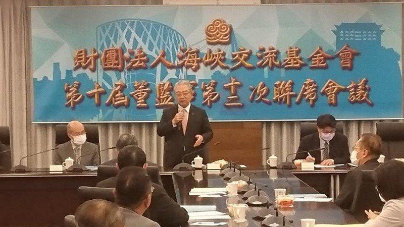 海基會代理董事長許勝雄將續行代理,至新任董事長人選確定為止。記者李仲維/攝影
