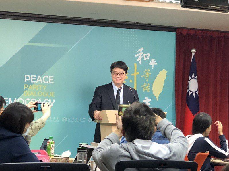 香港5日針對香港國安法開設舉報熱線,陸委會5日批評,如此自私的做法,無助於香港情勢的穩定。記者林汪靜/攝影
