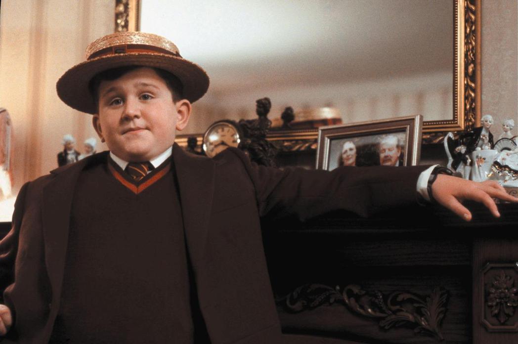 哈利梅林在「哈利波特」系列中還是圓嘟嘟的模樣。圖/摘自imdb