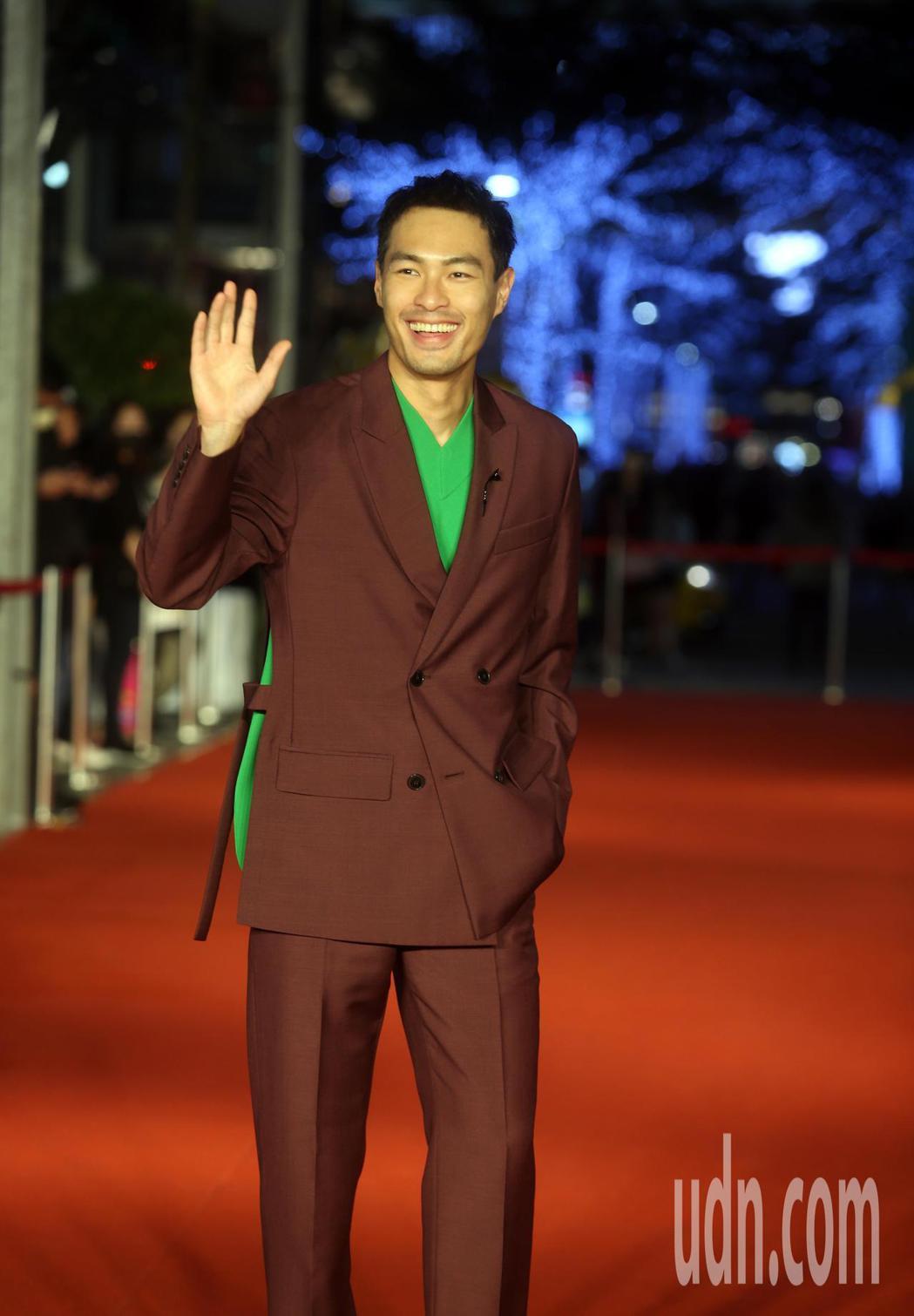 金馬影展開幕紅毯儀式,《腿》劇組楊祐寧出席。記者曾吉松/攝影