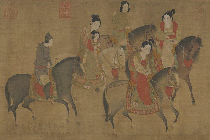 圖1 宋 李公麟 麗人行 卷 局部 國立故宮博物院藏