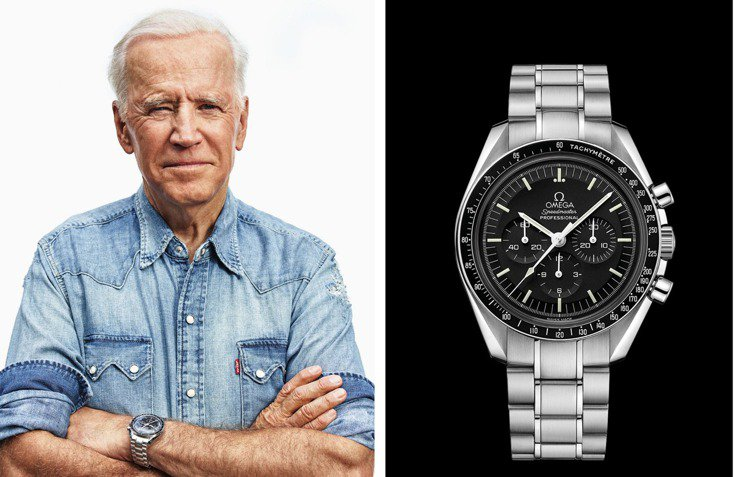 拜登所配戴的OMEGA Speedmaster超霸登月計時碼表,或呈現了拜登想要...