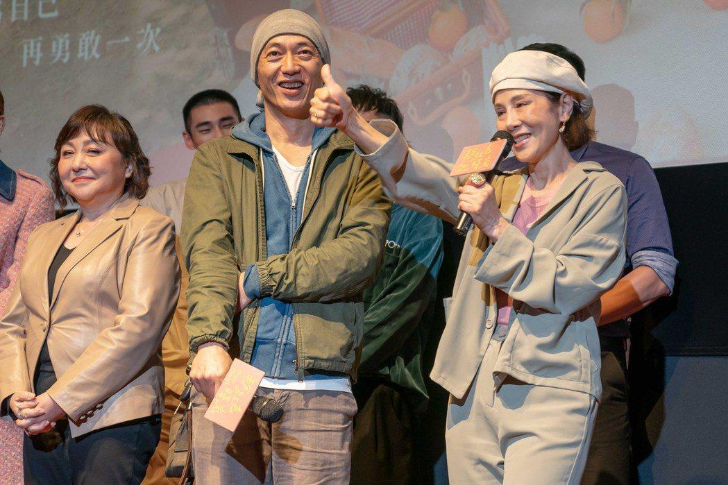 「粉紅色時光」戲中大量啟用資深演員,林秀君(右起)、單承矩在劇中飾演夫妻,還有民...