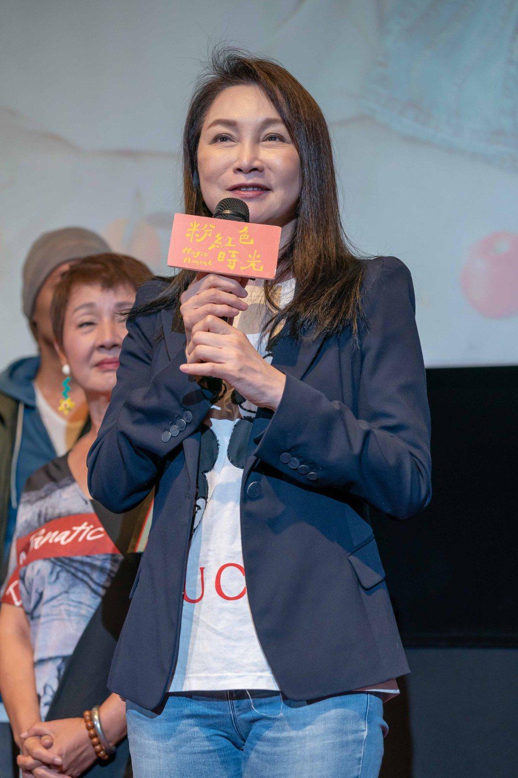 張瓊姿在「粉紅色時光」中演出與以往不同的角色。圖/TVBS提供