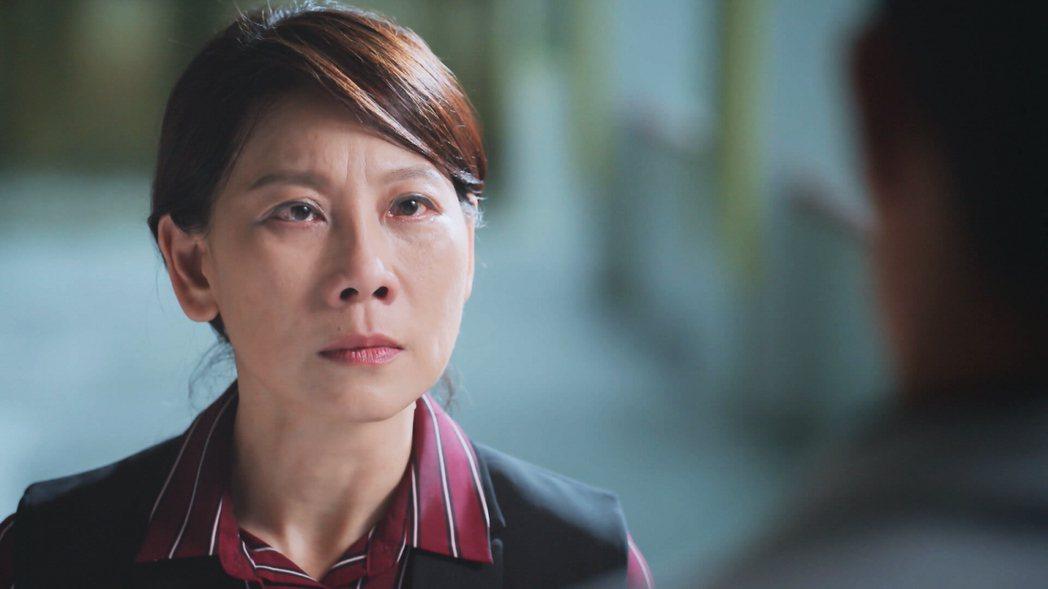 郎祖筠在「因為我喜歡你」劇中飾演嚴厲的母親。圖/八大電視提供