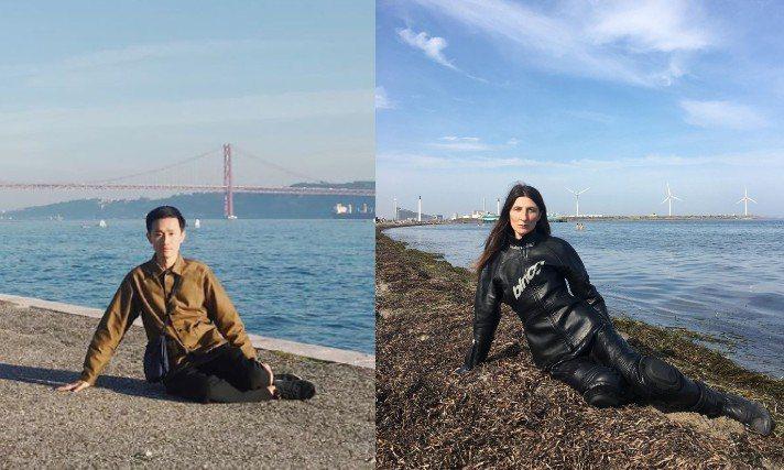 BALENCIAGA日前po出的一張海邊穿搭照被台灣知名馬來貘插畫家Cherng...
