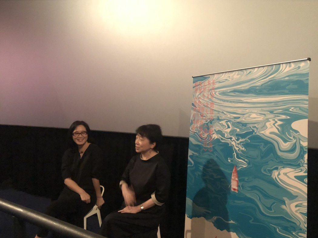 朱天文(右)、雷光夏(左)。記者陳建嘉攝