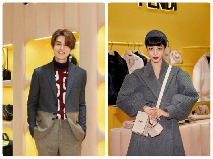李棟旭、韓藝瑟出席首爾Galleria百貨的FENDI耶誕佳節活動。圖/FEND...