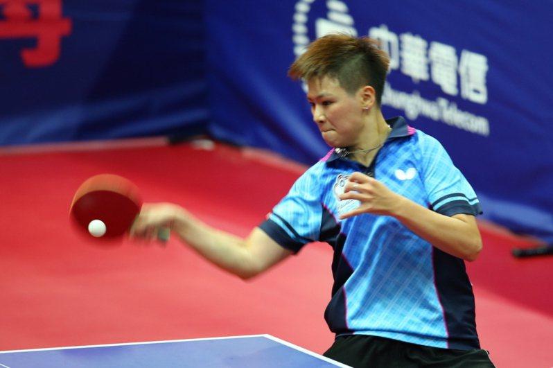 女子世界盃桌球賽在中國大陸山東「泡泡」開戰,打頭陣的陳思羽開出紅盤。圖/聯合報系資料照