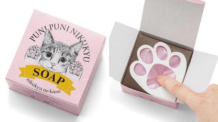 Felissimo貓部肉球QQ凍皂,售價550元/個。圖/台隆手創館提供