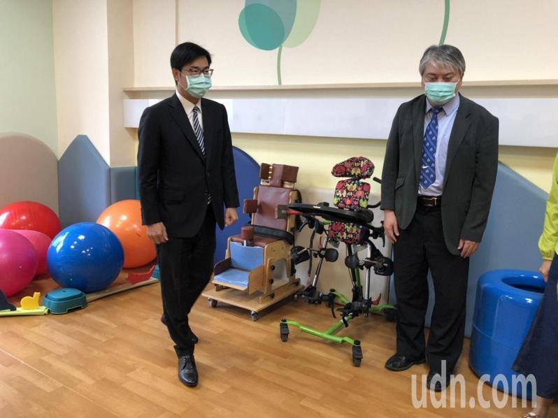 6樓「飛象家園」規畫49床,也設有許多復健設施。記者王慧瑛/攝影