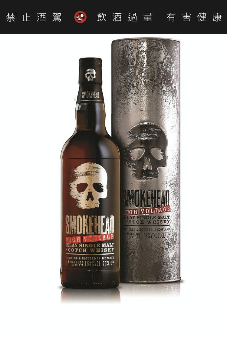 骷顱頭高壓電58單一麥芽蘇格蘭威士忌,酒精濃度58%,建議售價1,680元。圖/...