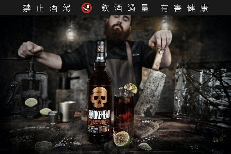 骷顱頭單一麥芽蘇格蘭威士忌,在濃密飽滿的煙燻味下,帶點立山小種紅茶氣息。圖/Sp...