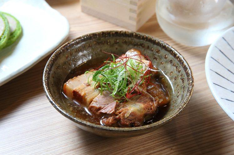 日式角煮黑毛豬,100元。記者陳睿中/攝影