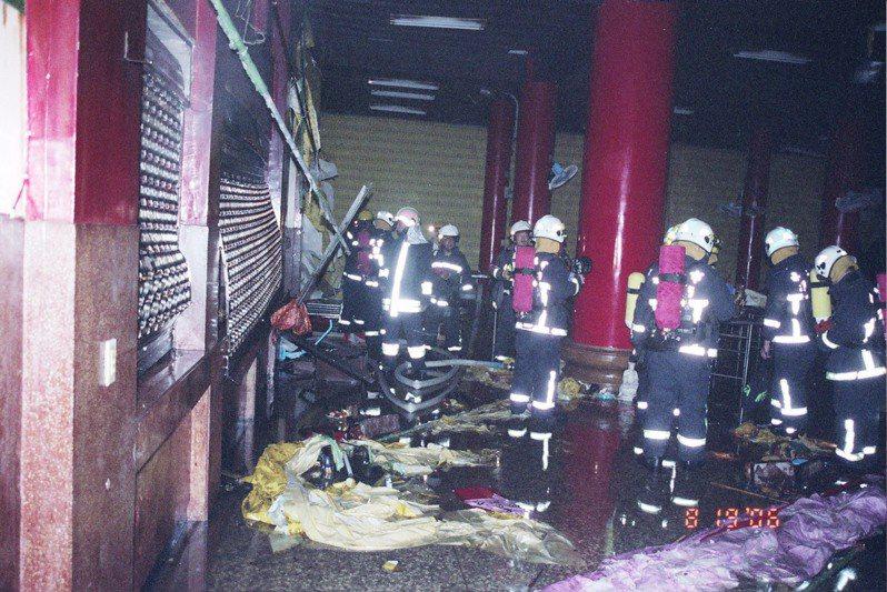 嘉義市九華山地藏庵閻羅殿多年前發生火警,造成多人受傷。記者李承穎/翻攝
