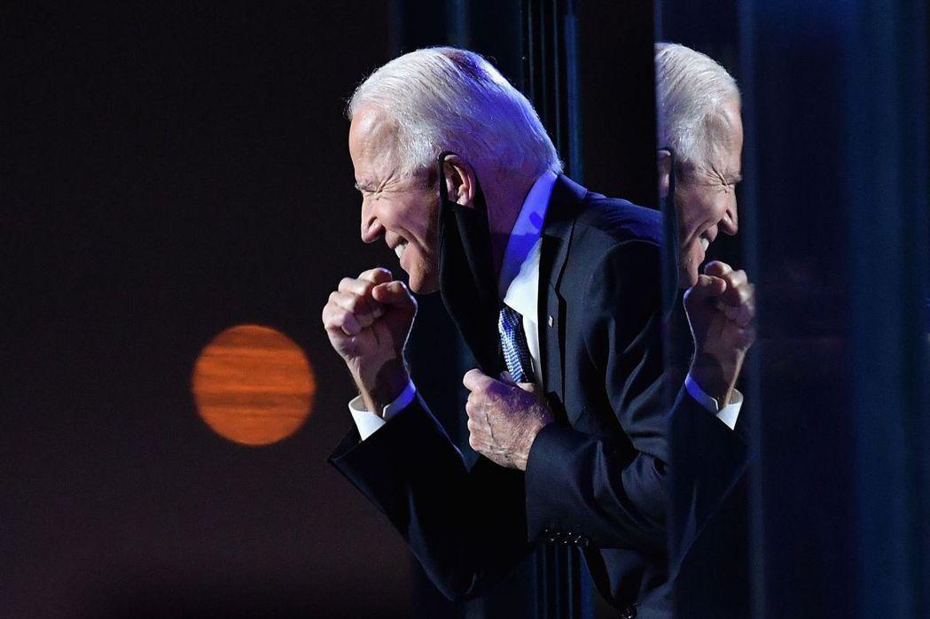 美國大選結果出爐,由民主黨正副總統候選人拜登和賀錦麗勝選。 圖/法新社