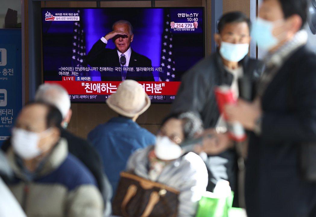 拜登勝選後,文在寅大力推動的南北韓和解也將失去推力。 圖/歐新社