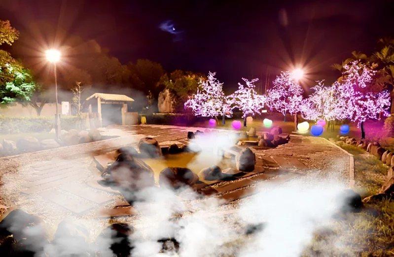 花蓮縣政府舉辦「2020花蓮太平洋溫泉季」,在瑞穗溫泉區和安通溫泉區設置夢幻光影...