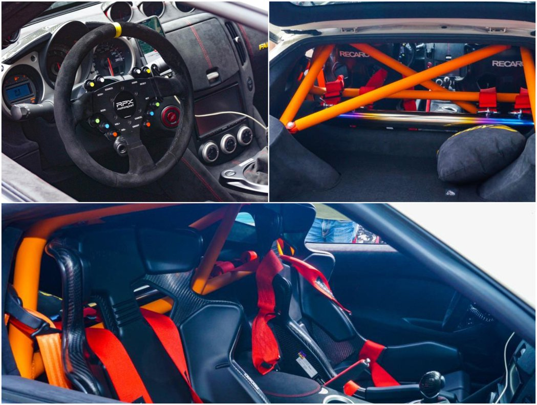 賽車方向盤、全車防滾龍以及Recaro RMS 2600A 整個乾式碳纖維賽車椅...