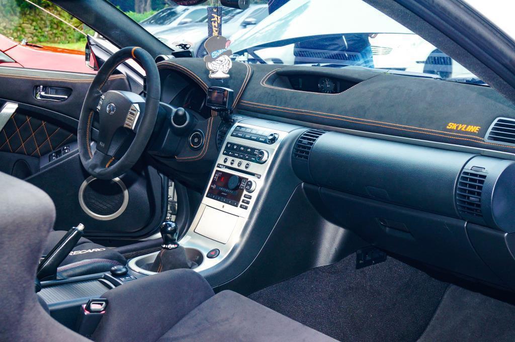 這輛外匯手排G35 Coupe,全車內裝重新包皮,車主相當有愛! 記者趙駿宏/攝...