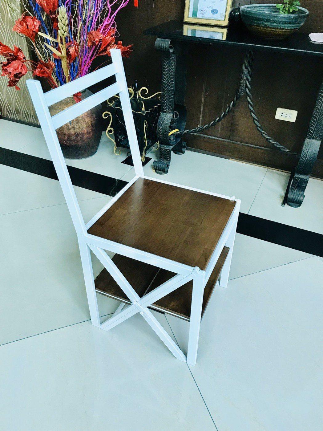 多功能梯椅平時可做為庭園椅、餐桌椅之用。 喬堡/提供