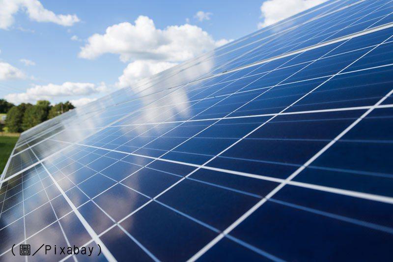 太陽能電池及太陽能板是太陽能產業的主要產品。 圖/Pixabay