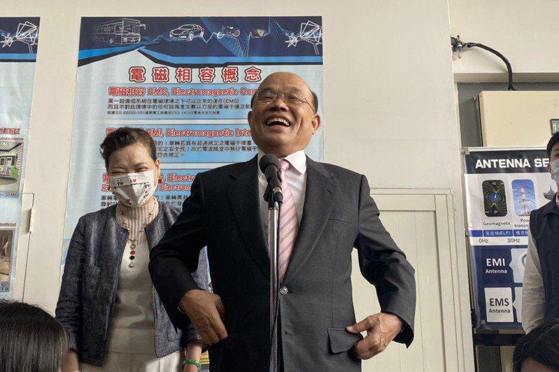 行政院長蘇貞昌表示我們要賣豬肉給人家,卻不准人家豬肉進來,沒這種自由貿易。記者劉明岩/攝影