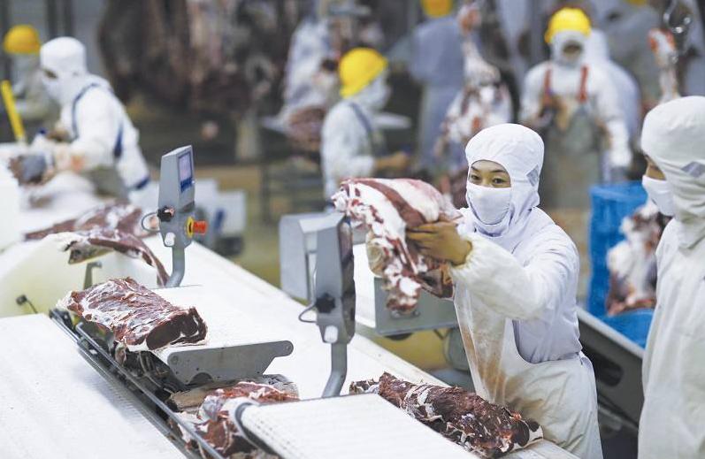 新冠疫情後,大陸加強抽檢進口的冷鏈食品。(新浪微博照片)