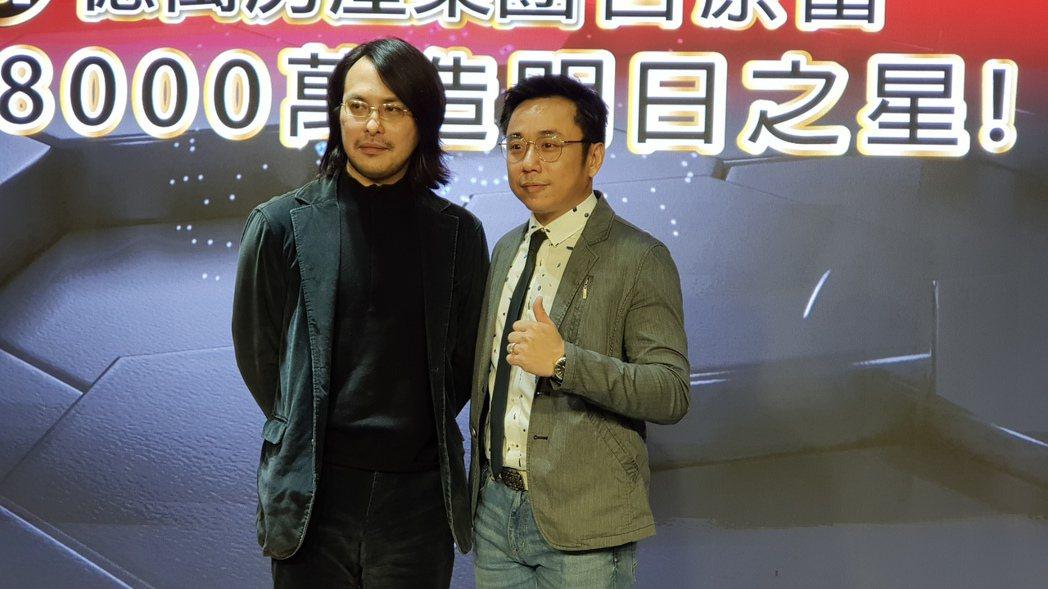 范植偉(左)與小彬彬是高中同學。記者杜沛學/攝影