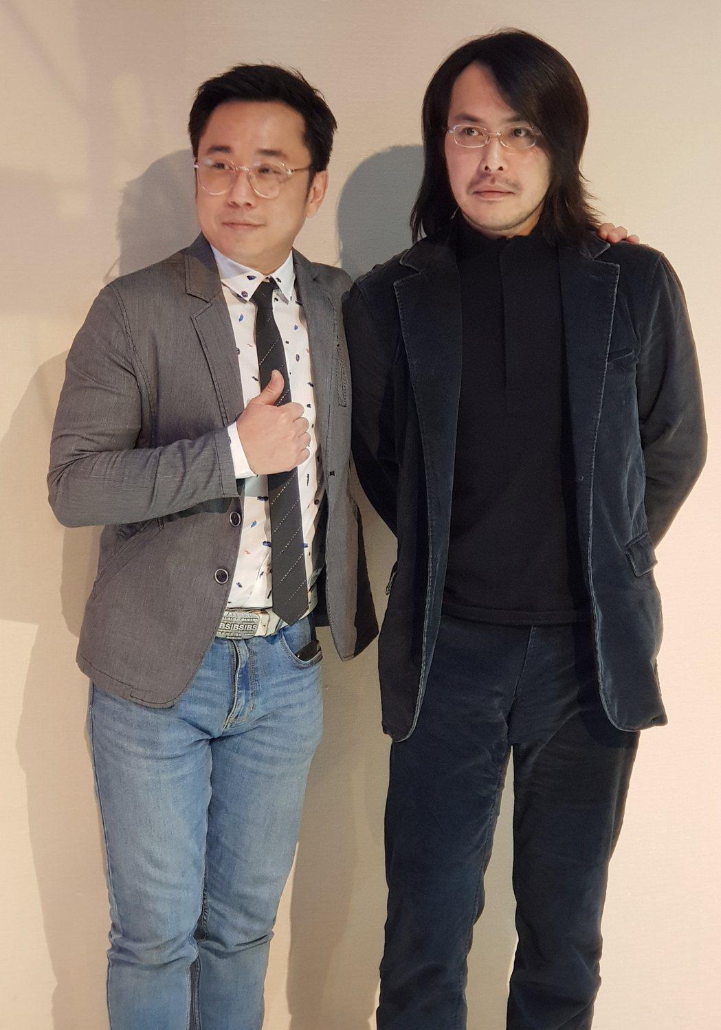 范植偉(右)與小彬彬是高中同學。記者杜沛學/攝影