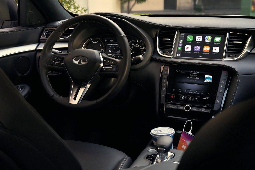 QX50推出風尚馭樂款及旗艦馭樂款,標配Apple CarPlay & Andr...