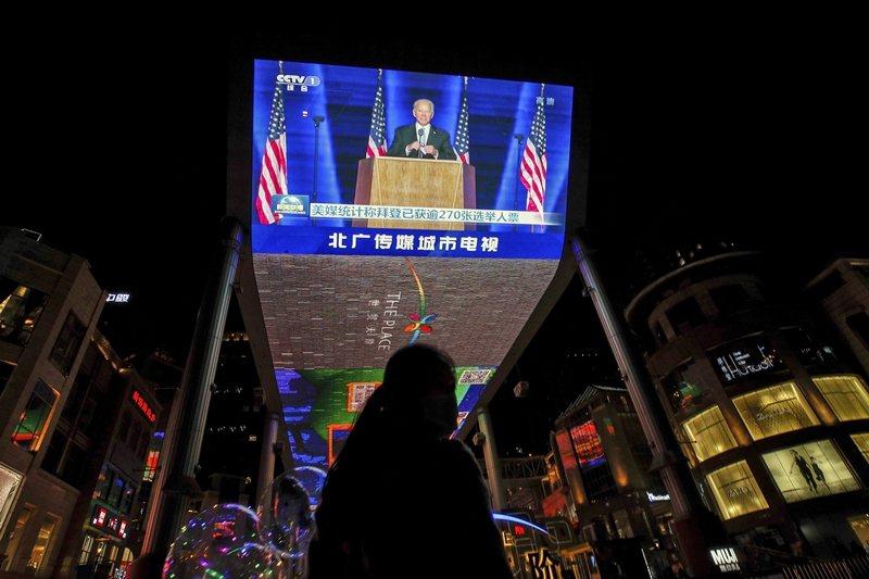 外界普遍認為,拜登政府最大的外部挑戰,乃是來自於中國。圖攝於11月8日,北京。 圖/美聯社