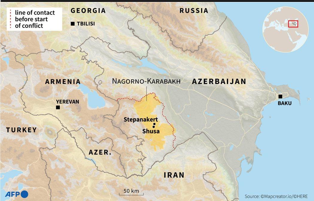 戰爭的轉捩點,是11月8日亞塞拜然軍成功「敵後包抄」,攻陷關鍵的補給線要塞——舒...