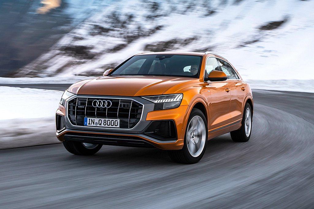 Audi Q8即日起同步展開預售,並率先導入55 TFSI quattro Sl...