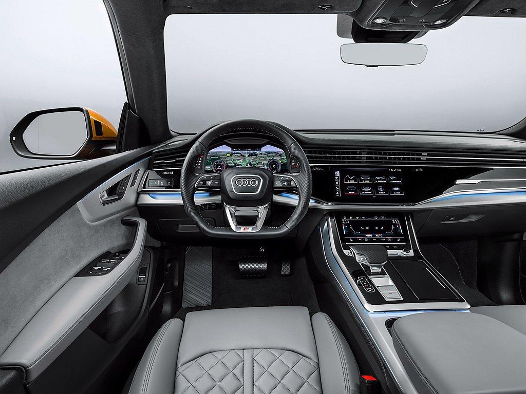 Audi Q8納入多項高科技與豪華配備如HD Matrix高階矩陣式LED極光頭...