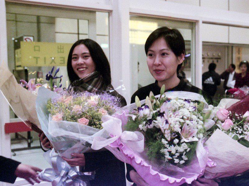 「美麗在唱歌」東京影展代表團載譽返國。圖為曾靜(左)、劉若英(右)。圖/聯合報系資料照片