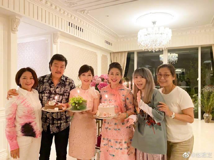 趙雅芝提前慶生66歲生日。圖/摘自微博