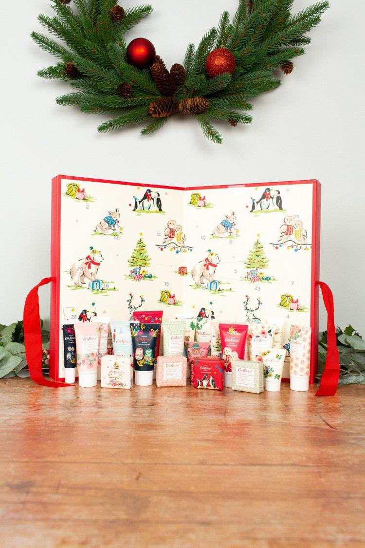 Cath Kidston耶誕倒數日曆全台限量24組,3,880元。圖/Cath ...