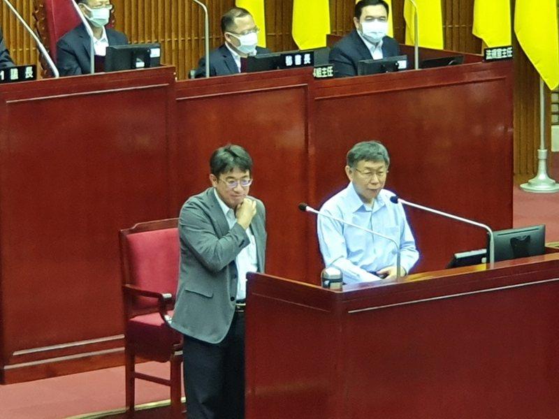 台北市長柯文哲下午至議會總質詢。記者楊正海/攝影