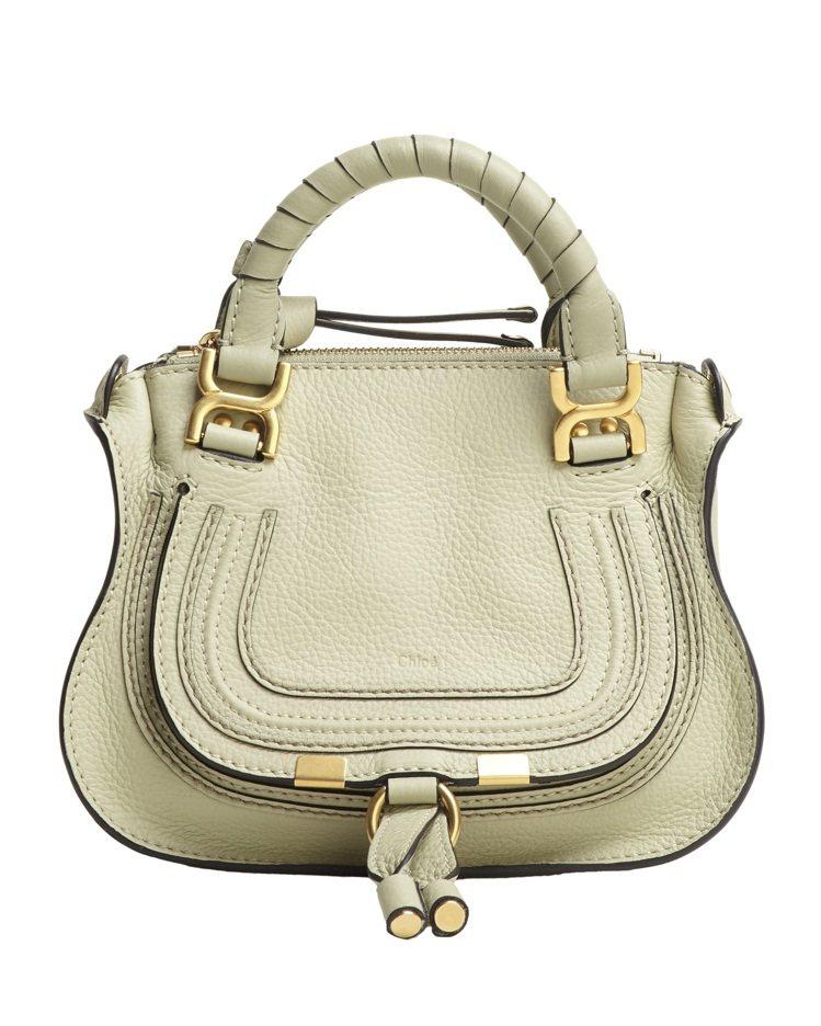 Chloé Marcie嫩綠色迷你肩背手提包,42,900元。圖/Chloé提供