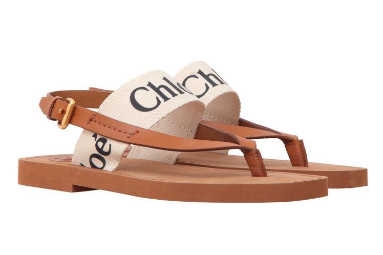 隋棠選穿款Chloé Woody人字拖鞋,14,100元。圖/Chloé提供