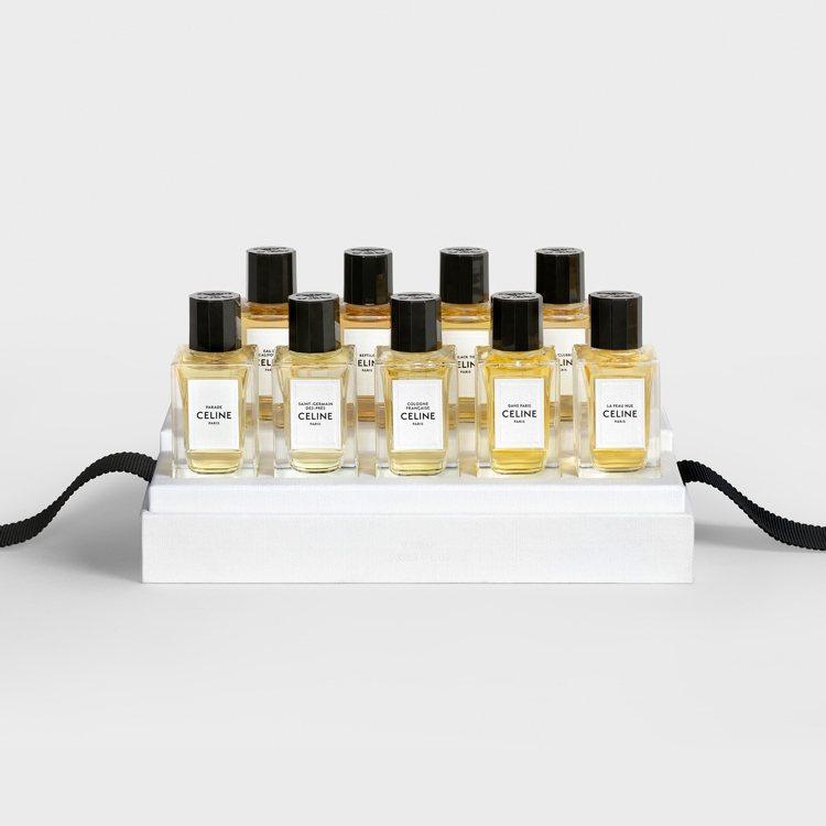 CELINE全新迷你香水禮盒於微風廣場、信義微風專賣店販售,11,000元。圖/...