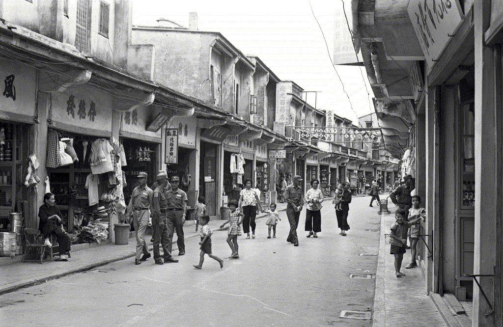 11月7日是金馬解嚴28周年紀念日。圖為1962年金門街景。 圖/聯合報系資料照