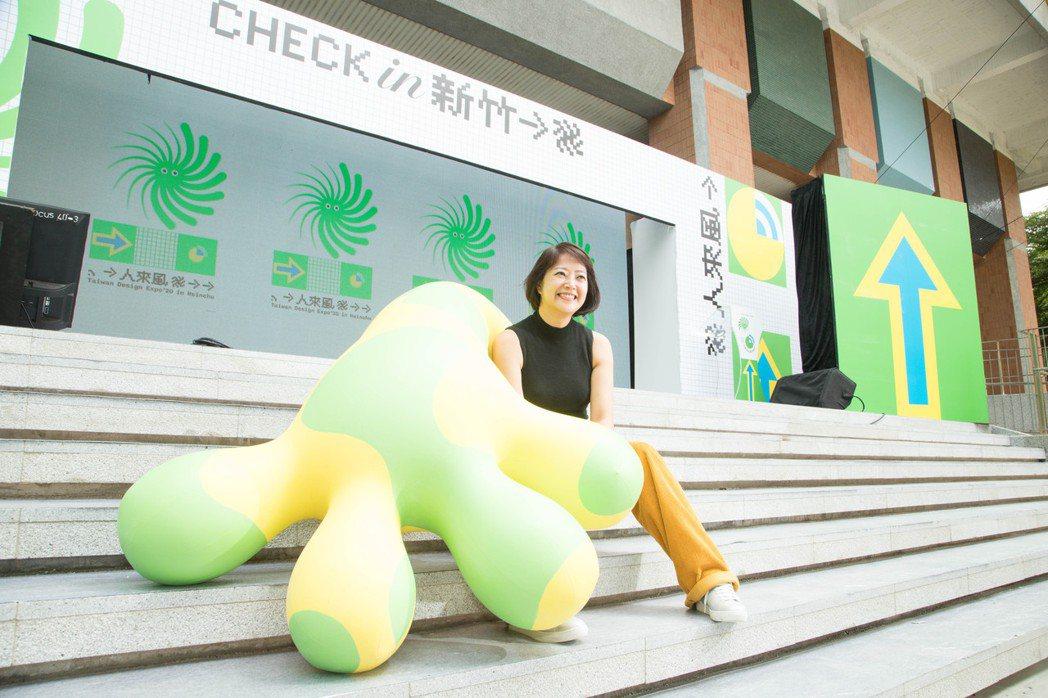 2020年台灣設計展在新竹,策展人劉真蓉。記者陳立凱/攝影