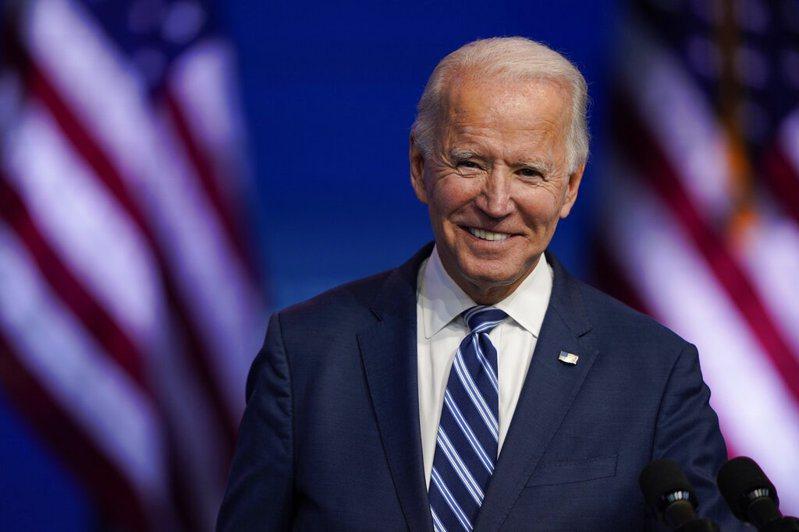 美國民主黨籍總統當選人拜登(Joe Biden)。 美聯社