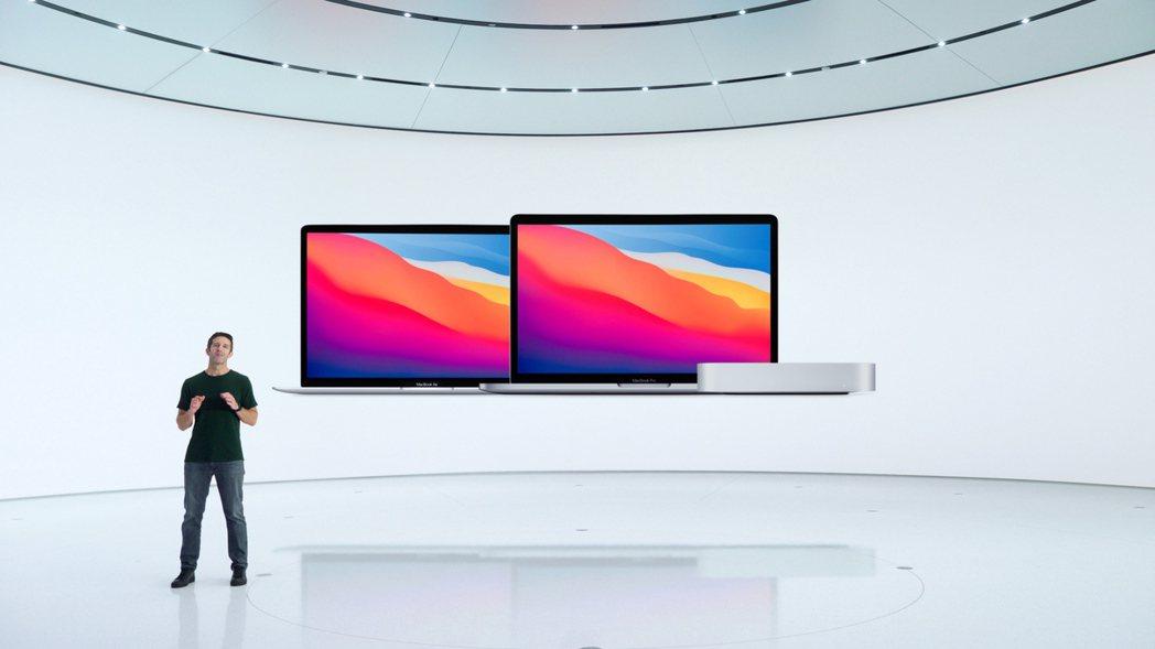 蘋果10日舉行新品發表會,推出三款Mac電腦與筆電產品。 (歐新社)