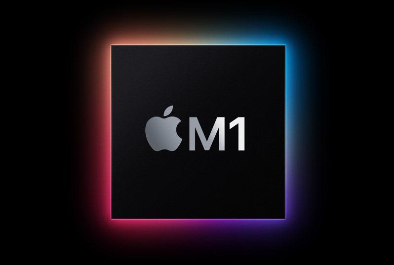 蘋果發表專為Mac設計的第一款晶片「M1」,也是迄今所打造最強大的晶片。圖/蘋果提供